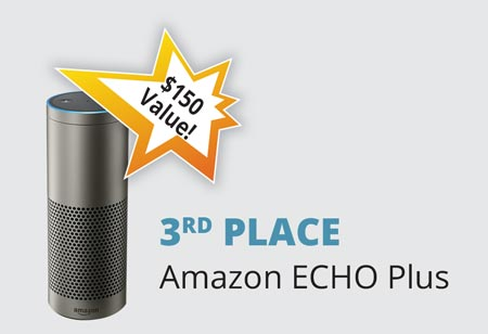 3rd Place - Amazon ECHO Plus – a $150 Value!